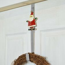 Christmas Door Wreath Hanger Santa Snowman Merry Christmas Designs NEW