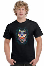 Men's T Shirt Psychedelic Dog Short Sleeve Tee