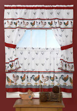 """Achim Importing Co Top of the Morning Cottage 57"""" Valance and Tier Set"""