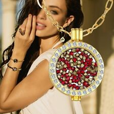 DIY Jewelry My Coins Mi Lovely Necklace Disc Locket Holder Crystal Pendant Gifts