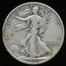 1936 50C Walking Liberty Half Dollar  1936 P Walking Liberty Half 90% Silver