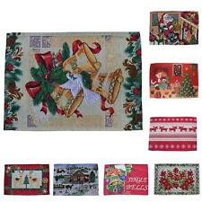 Tapestry Kitchen Holiday Christmas Placemats Dining Table Place Mat XMAS Decor