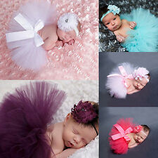 Toddler Baby Girl Tutu Skirt+Flower Headband Photo Prop Costume Outfit Little