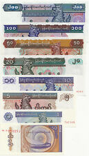 Set of 8Pcs Myanmar 0.5+5+1+5+10+20+50+100+200 Kyats Paper Money Uncirculated