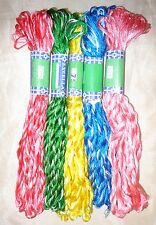 NEW VARIEGATED SILK EMBROIDERY THREAD 5 SKEINS 400 mts CRAFT PROJECT S13 #39IXC