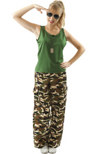 Ladies Camouflage Army Girl Soldier Military Fancy Dress Costume
