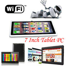 "7"" HD Google Android 4.4 Tablet PC 8GB WIFI Bluetooth Quad Core Dual Camera LOT"