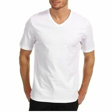 NWT Hugo Boss T-Shirts 3 Pack White V neck Mens Basic Tee 100% Cotton