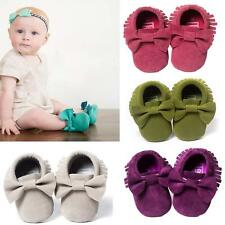 NEW Baby Soft Sole suede/Leather Shoes Infant Boy Girl Toddler Moccasin 0-18m