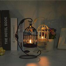Black/White Birdcage Lantern Candle Holder Tea Light Stand Centerpiece