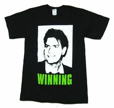 Charlie Sheen Winning Picture Image Black T Shirt New Official