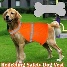 Pet Dog Safety Fluorescent Strips Vest Jacket Harness Apparel Orange 3 Sizes