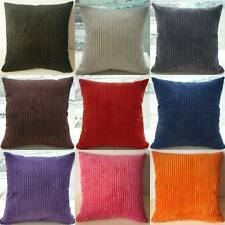 "2X Velvet Striped Sofa Car Throw Pillow Cases Pillowcase Cushion Covers 17"" Z14"