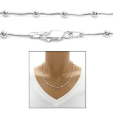 925 Sterling Silver Multi-Bead Snake Chain Necklace or Bracelet 3mm