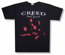 Creed Red Faces Band Image 2010 Tour Black T Shirt New Official