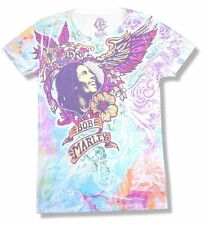 Bob Marley Flowers All Over Sublimation Girls Juniors White T Shirt New Official
