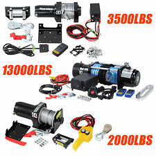 2000,3500,13000LBS Electric Recovery Winch Kit 12V ATV Trailer Truck Car Boat
