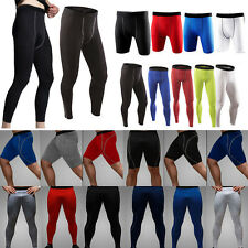 Mens Sports Compression Leggings Pants Base Layer Running Cycling Tight Gym Wear