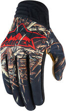 Mens Icon Black Raiden Deadfall Motorcycle Riding Street Racing Textile Gloves