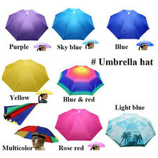Foldable Sun Umbrella Hat Golf Fishing Camping Headwear Cap Colors