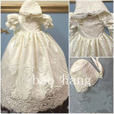 New Lace Toddler Baby Baptism Christening Gown First Communion Dress Custom Size