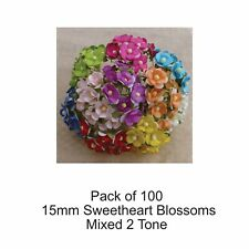 Mulberry Paper Flowers 100 Mixed Pack 15mm SWEETHEART BLOSSOMS   Embellishments