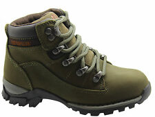 Caterpillar Cat Chamonix Kids Boots Khaki Leather Youths Juniors P101479 D121