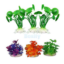 3PCS Simulation Aquatic Plastic Plants Aquarium Ornament Decorations