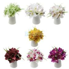 Orchid Bouquet Artificial Silk Flower Chic Wedding Bridal Home Decor 7 Color