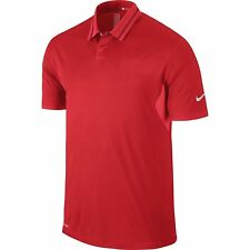 New Mens Nike TW GG Tiger Woods Green Grass Collection Ultra Polo 3.0 Size L Red