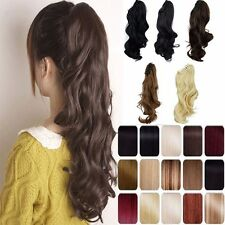 Jaw Ponytail Clip in Hair Extension Claw Pony tail Natural As Human Brown Blonde