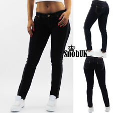 NEW Sexy Ladies Womens Denim Skinny Jeans Side Lace detail Sizes 6 8 10 12 14