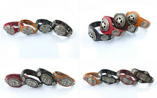 leather bracelets Unisex Cuff Punk Bracelet Bangles Wristband Wholesale Lots