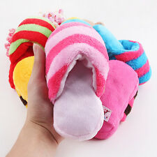 Lovely Dog Play Toy Plush Slipper Shaped Pet Chew Squeaky Squeaker Sound Toy 1Pc