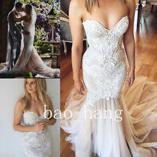 Sweetheart Mermaid Wedding Dresses Lace Bridal Gowns White Ivory Size 4 6 8 10++
