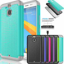 Hybrid Slim Matte Impact Defender Rugged Rubber Case Cover for HTC Bolt 10 Evo
