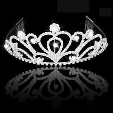 Chic Crystal Princess Hair Tiara Hairband w/ Comb Wedding Party Bridal Jewelry