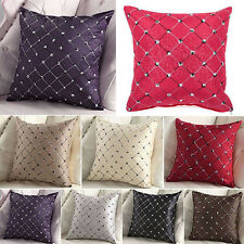 Home Sofa Cushion Covers Bed Decor Multicolored Plaids Throw Pillow Case Square