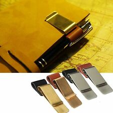 Pen Loop Traveler Notebook Leather Pen Holder Note Steel Clip Universal