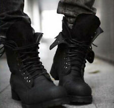 Mens Retro high-top Combat boots Winter England style fashionable short shoes