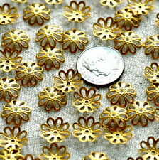 100pcs Brass Stamping Filigree Bead Caps Embellishment Finding 11mm bc03 PICK