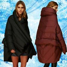 Women High-end Fashion Design Winter Warm Outerwear Cloak Coat Down Jacket Parka