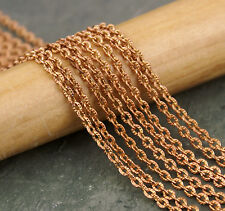 Plated Brass Knurled Link Cable Chain 2.5mm Chain for necklace c220(4ft)