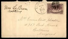 Georgetown Sc Apr 3 1894 Single Franked Cover To Baltimore Maryland