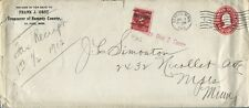 ST PAUL MN 1913 TREASURER RAMSEY COUNTY COVER TO MINNEAPOLIS