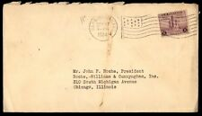 Marquette Kansas 1934 Single Franked Flag Cancel On Cover To Chicago Il