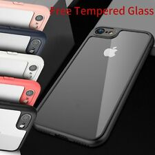 360° Full Body Shockproof Crystal Clear Hard Tempered Glass Case For iPhone 6 7