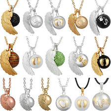 Angel Wing Musical Harmony Ball Pendant Necklaces Chain Wishing Bell Bola Women