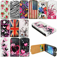 Card Slots Leather Phone Pouch Cover Case For Samsung Galaxy S5 S4 S3 Note 3 4