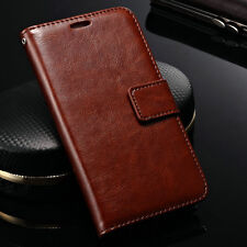 Luxury Leather Case Magnetic Flip Card Slot Wallet Stand Cover For Lenovo Phones